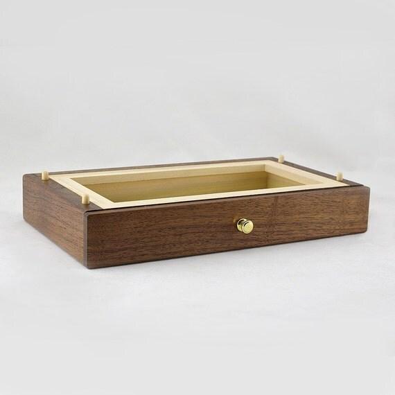 Modular Jewelry Box System - Walnut Standard Drawer