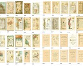 Download Version ANTIQUE HOLY CARDS French  Images 40 Religious Flowers Fonts Images plus guide