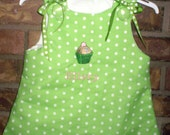 Baby Girl Boutique Style Custom CUPCAKE DressYou Pick the Size FREE MONOGRAM