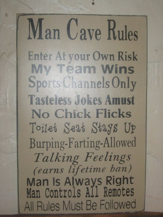 Man Cave Subway Art : Man cave rules word art typography sign subway