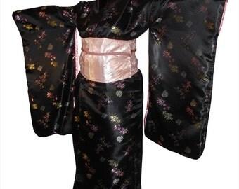 Traje de Geisha diseñadas del encargo, incluye Kimono, Obi y cubra