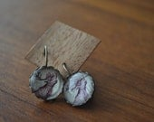 RESERVED LISTING for Capesandra (Glass Bubble Earrings Made from Postage Stamps - Newfoundland Caribou)