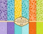 Dots Scrapbook  Digital Paper pack -  Monster Mash