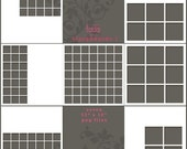 Storyboards PNG format  12  x 12 for photographers, scrapbookers. Set 1
