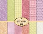 Digital Paper Pack for invites, card making, digital scrapbooking - Susie Q
