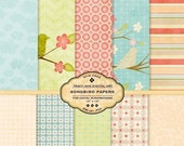 Songbird Digital Papers for scrapbooking, card making -  Songbird - TracyAnnDigitalArt