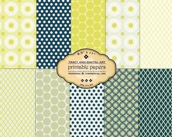 Printable Papers for scrapbooking crafting cardmaking - Set 50  - commercial and personal use