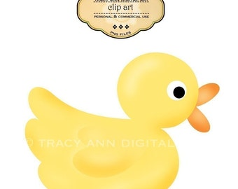 CLIP ART - Yellow Duck for commercial and personal use.