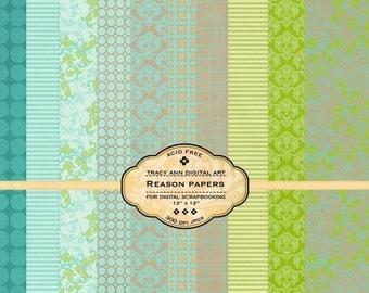 Reasons Digital Scrapbook Paper Set
