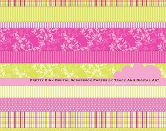Pretty Pink Digital Papers