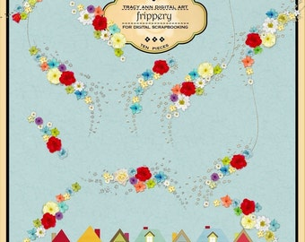 Digital Elements for card making and digital scrapbooking - Home Frippery Commercail use