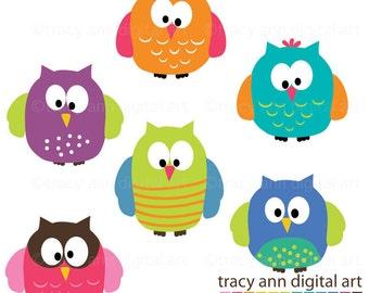 Clip Art -  Party Owls
