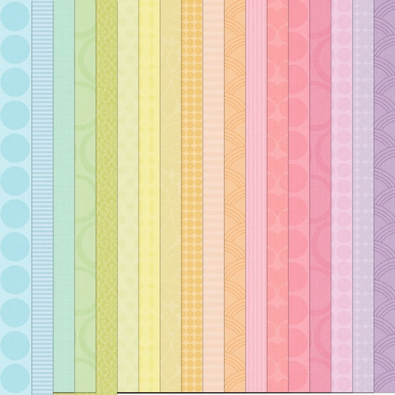 Mega Digital Paper pack for invites, card making, digital scrapbooking - Pastel digital