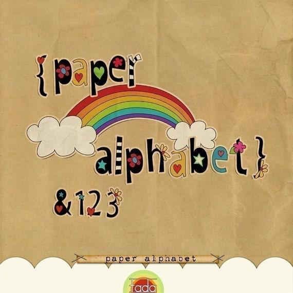 Paper Alphabet for Digital Scrapbooking