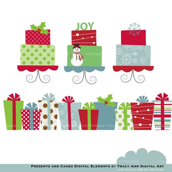 Christmas Toys Border : Items similar to clip art christmas presents and cakes