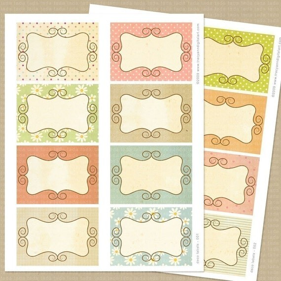 Printable Shabby Scrapbook Journal Cards - make into labels, tags, journal spots