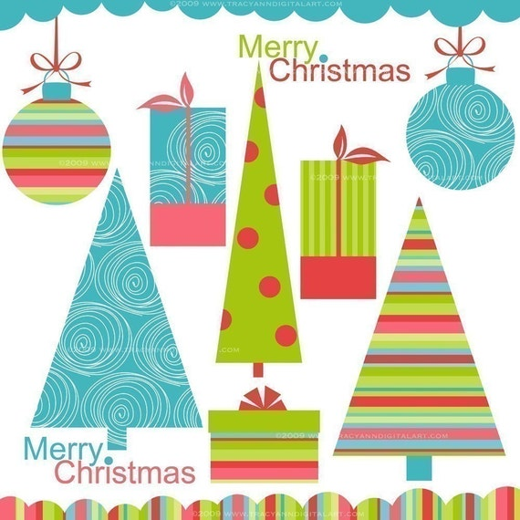 CLIP ART - Modern Christmas Elements