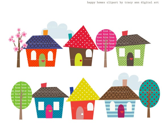 Items similar to happy homes clip art on etsy for New home images free