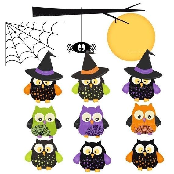 Items similar to Halloween Owl Clip Art Halloween Clipart ...