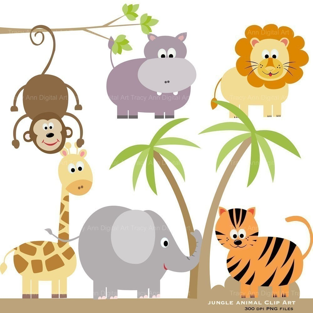 jungle baby clipart free - photo #48
