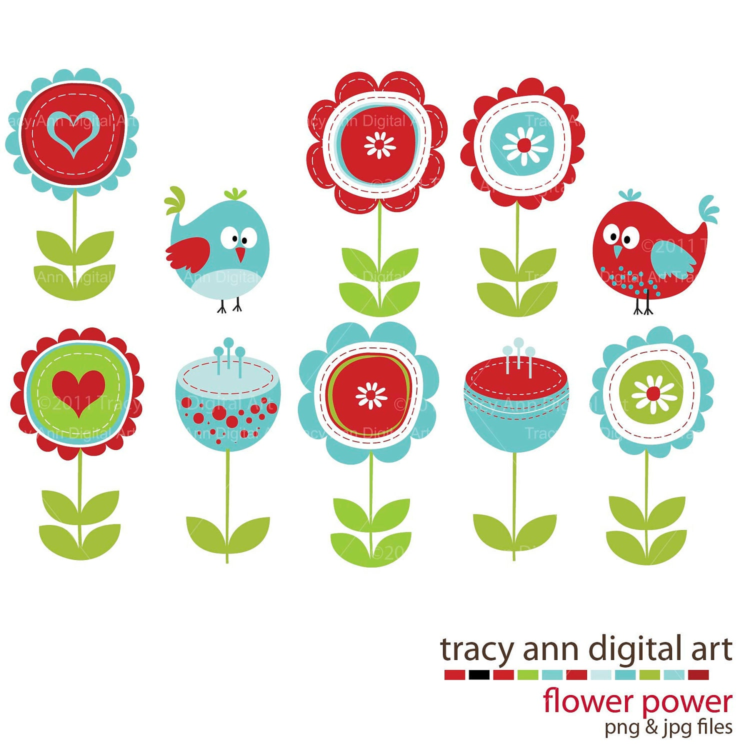 clipart flowers and birds - photo #5