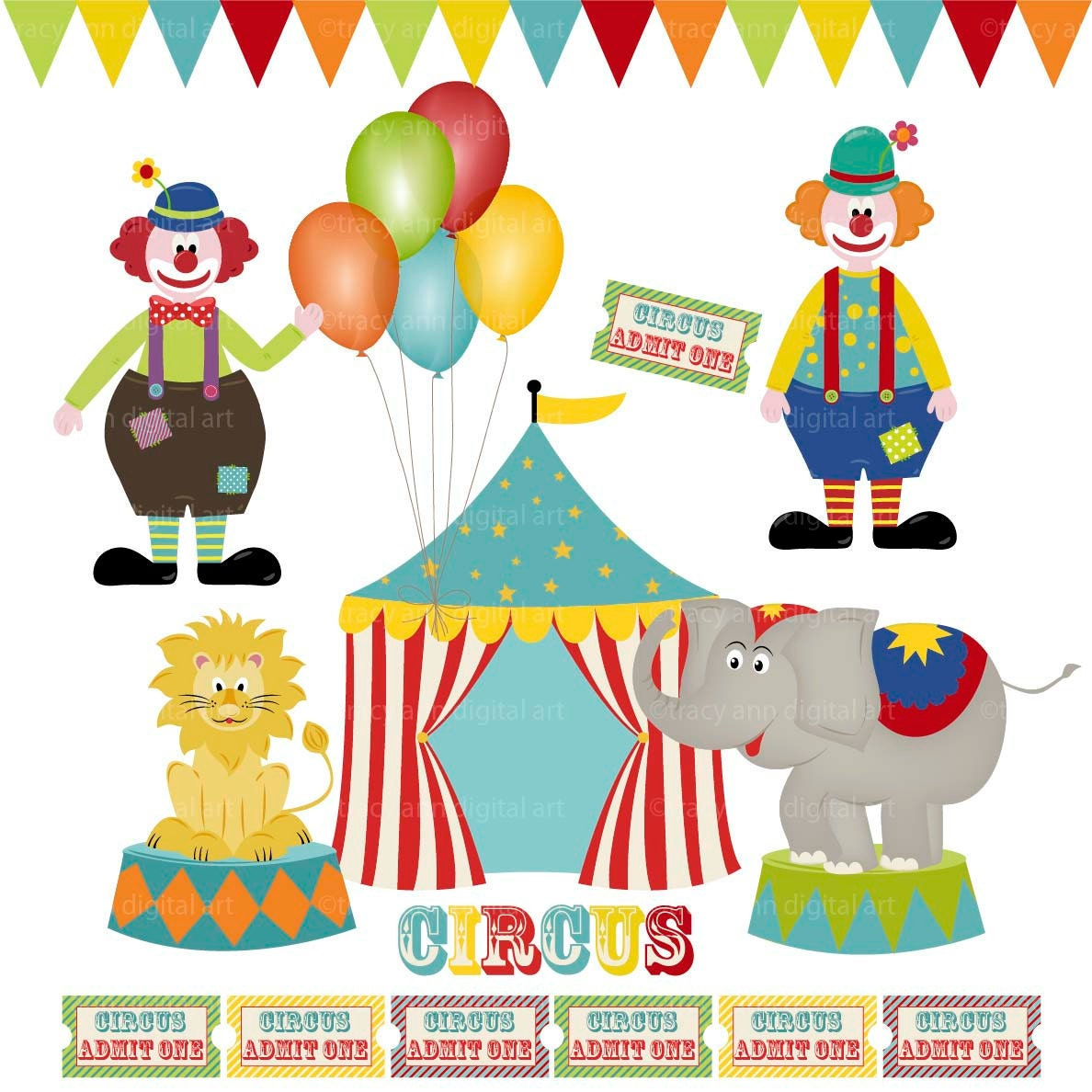 clip art clowns with balloons - photo #38