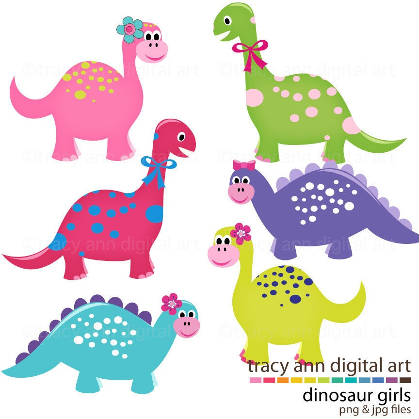 free girl dinosaur clipart - photo #1
