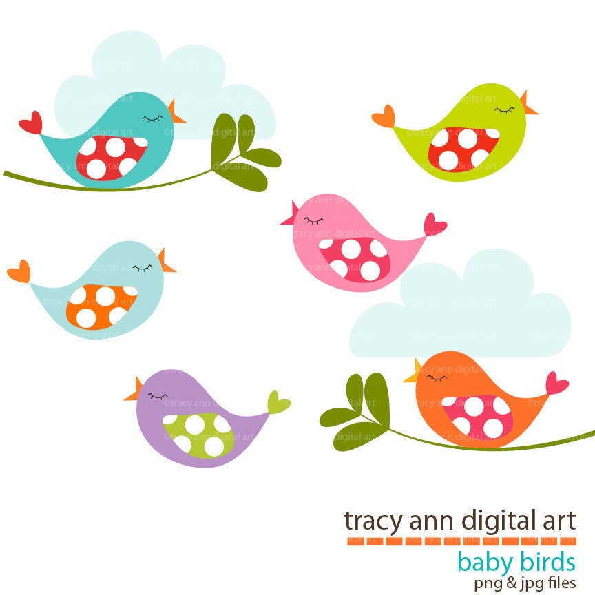 baby birds clip art by tracyanndigitalart on etsy pink baby bird clipart baby bird clipart free