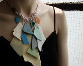big - chain and plastic summer necklace