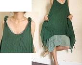 Soft Cotton Two Layers Tank Top ...Dress  S-L  (T01)