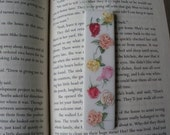 Porcelain Bookmark Decoupaged Roses