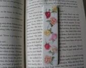 5 Porcelain Bookmark Decoupaged Roses RESERVED