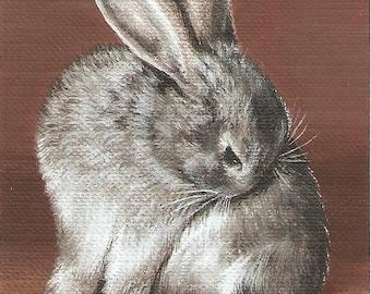Custom Pet Portrait ACEO Painting
