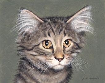 Custom Pet Portrait Painting 11 by 14