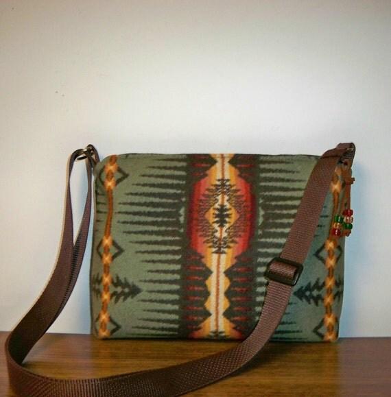 Pendleton Wool Purse Shoulder Bag Sunset Ridge Sage
