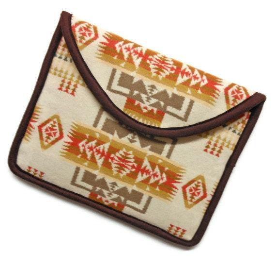 iPad Cover iPad Case iPad Sleeve Pendleton Wool Clutch Bag