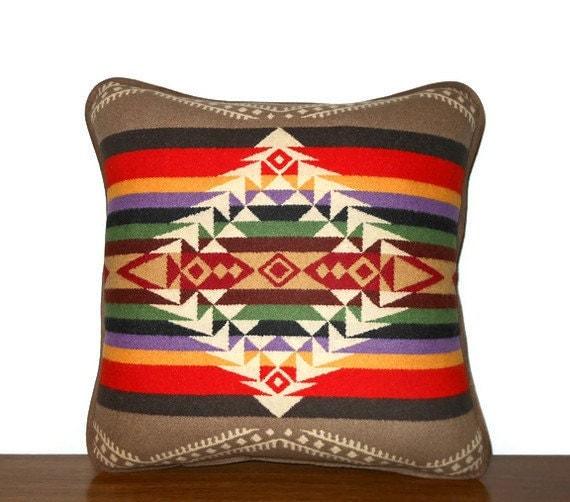 Pendleton Wool Pillow Decorator Throw Lodge Khaki