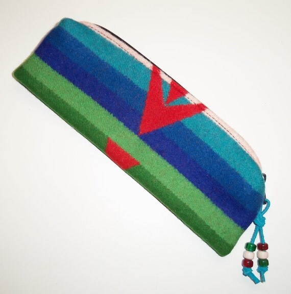 Pendleton Wool Zippered Pouch Pencil Case Accessory