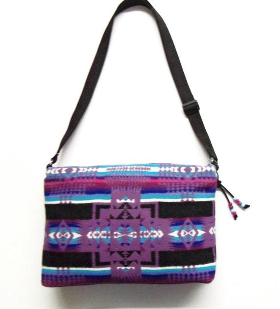 Pendleton Wool Bag Purse Shoulder Bag Adjustable Strap