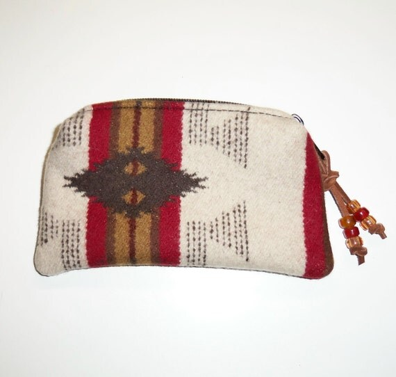 Zippered Pouch Change Purse Pendleton Wool Southwest