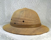 SALE Full Size Woven Pith Helmet Steampunk Hat-Vegan Friendly (FAS 110)