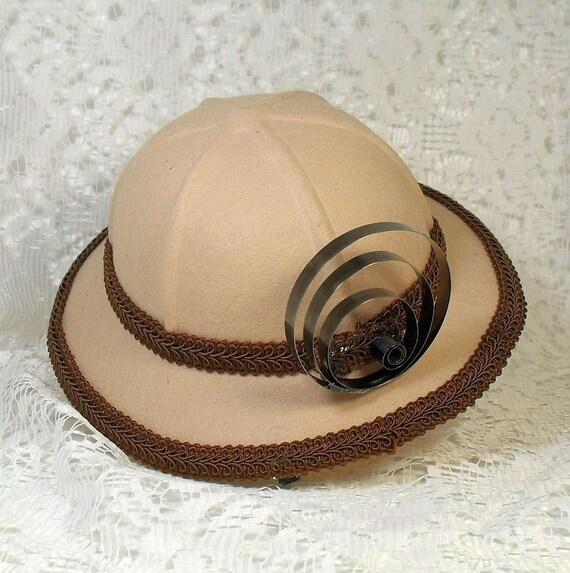 SALE Steampunk Mini Pith Helmet Hat Vegan Friendly (FAS 122)