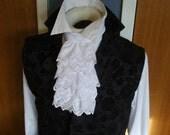 Cotton Lace - Jabot - Lace Ascot Cravat Neckwear Victorian Regency 9 inch length