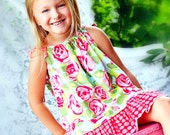 Pillowcase Top/Dress Sewing Pattern Tutorial by Whimsy Couture 0 months-12 girls PDF Instant