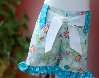 Girls Ruffle Shorts Sewing Pattern Tutorial with option flat front newborn through size 8
