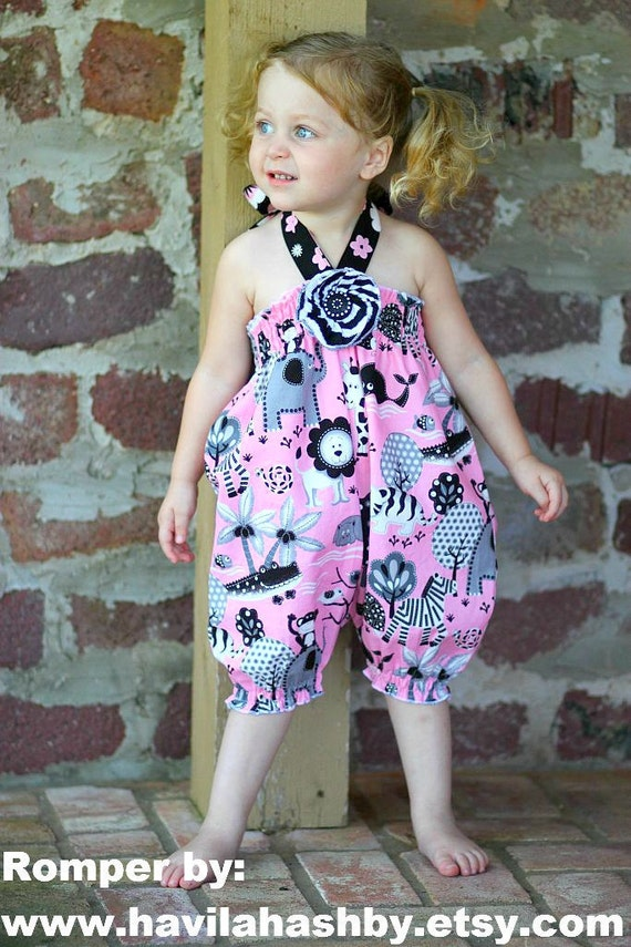 Whimsy Couture Sewing Pattern Tutorial PDF ebook Shirred Bubble Romper preemie through 4t