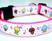 Ice Cream and Sprinkles Dog Collar