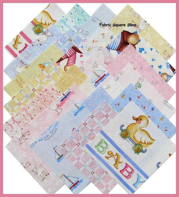 susan branch baby charm pack fabric by materialgirlchic