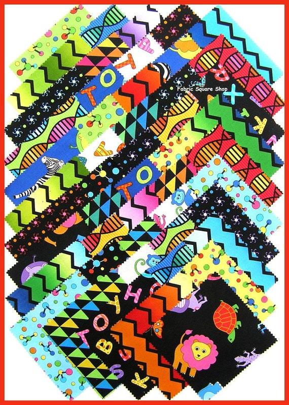 "Benartex Baby Genius Grows Up 5"" Charm Pack Fabric Squares"