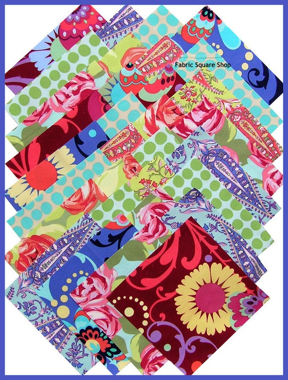 "Amy Butler LOVE FLANNEL 6.5"" Quilting Fabric Squares Westminster Fibers"